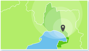 サービスエリアの地図